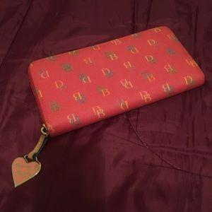 EUC - Dooney and Bourke wallet - pink